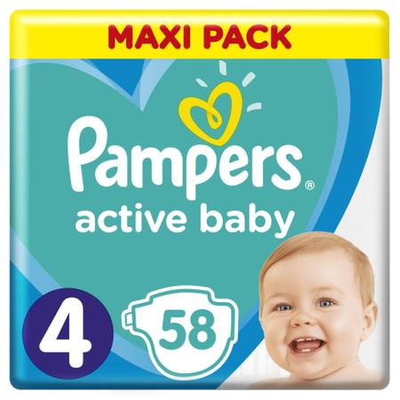 Pampers Zestaw pieluch Active Baby Maxi Pack 4 (9-14 kg); 58-1