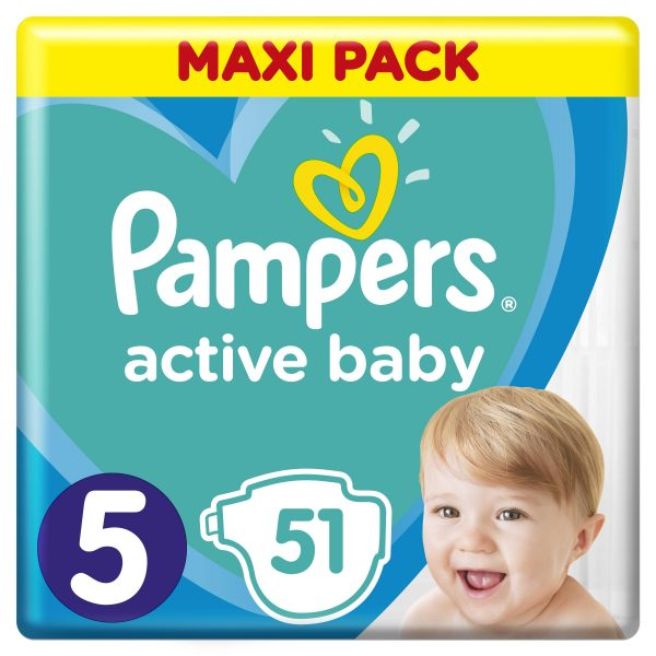 Pampers Zestaw pieluch Active Baby Maxi Pack 5 (11-16 kg); 51-1