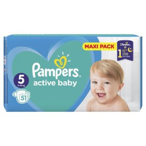 Pampers Zestaw pieluch Active Baby Maxi Pack 5 (11-16 kg); 51-2