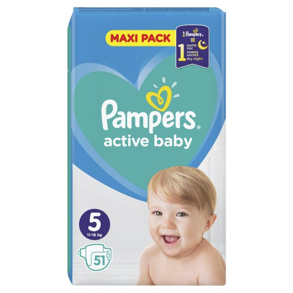 Pampers Zestaw pieluch Active Baby Maxi Pack 5 (11-16 kg); 51-3