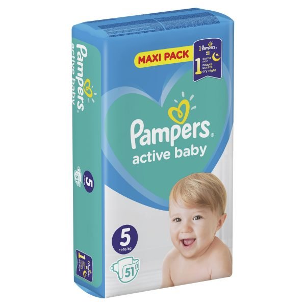 Pampers Zestaw pieluch Active Baby Maxi Pack 5 (11-16 kg); 51-4