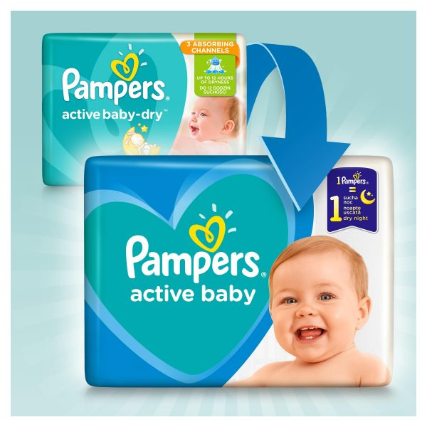 Pampers Zestaw pieluch Active Baby Maxi Pack 5 (11-16 kg); 51-5