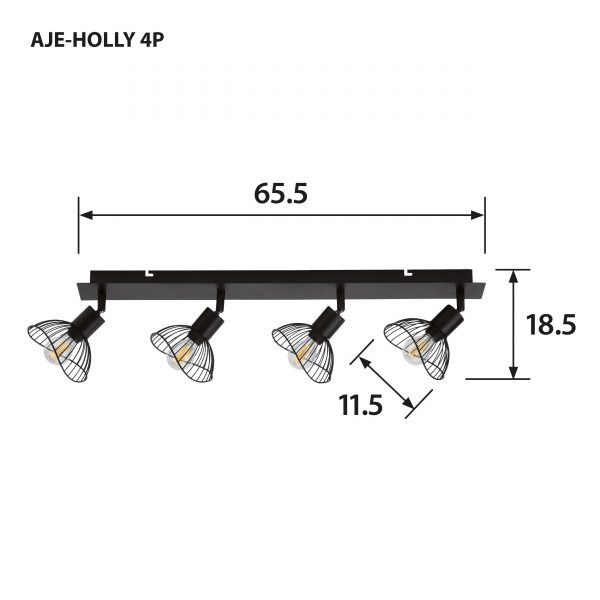 Listwa Activejet AJE-HOLLY 4P (160 W; E14 x 4)-5