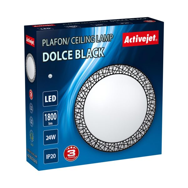 Plafon LED Activejet AJE-DOLCE Black-3
