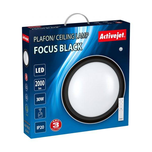 Plafon LED Activejet AJE-FOCUS Black + pilot-3