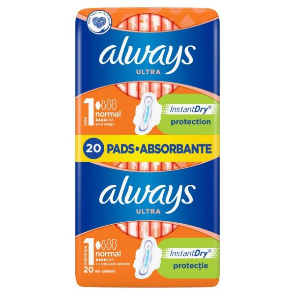 Pads ALWAYS Ultra Normal Plus, 20 pcs.-1
