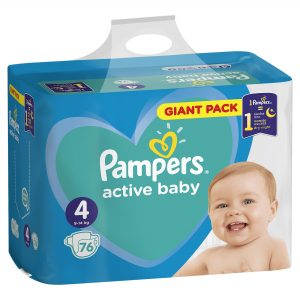 Pampers Zestaw pieluch Active Baby Giant Pack 4 (9-14 kg); 76-1