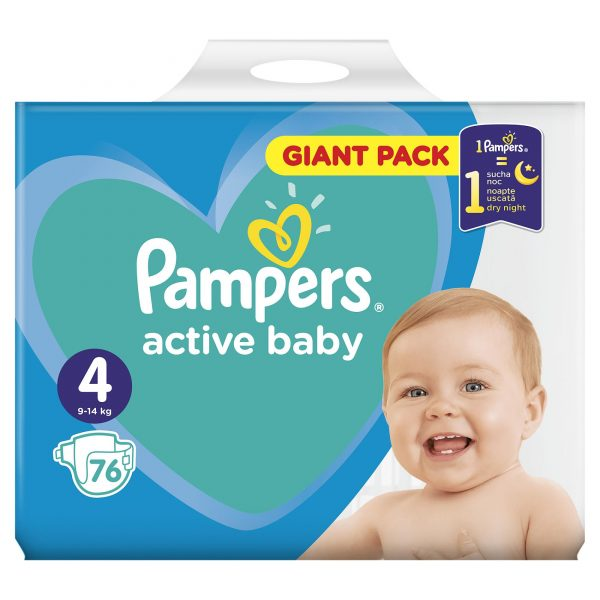 Pampers Zestaw pieluch Active Baby Giant Pack 4 (9-14 kg); 76-2