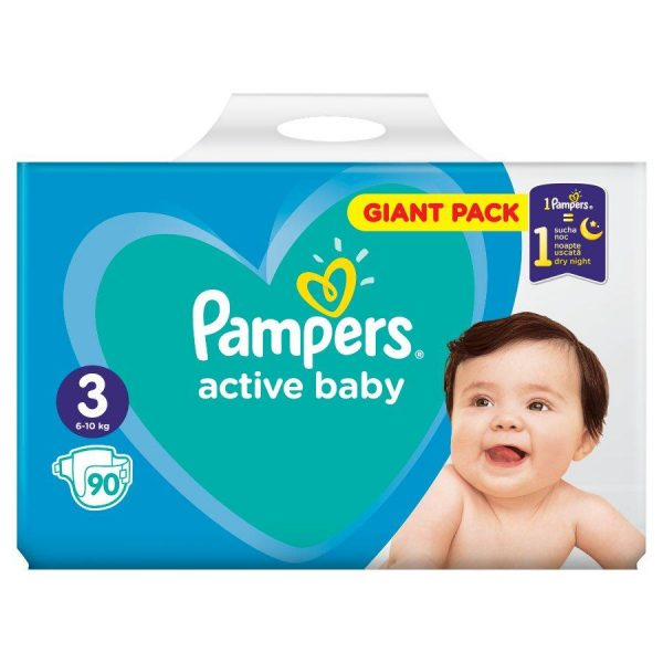 Pampers Active Baby Pieluchy Rozmiar 3, 6-10kg, 90szt-1