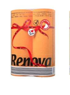 RENOVA 6szt Red Label Orange Papier toaletowy-1